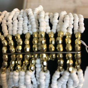 New Guess beaded white bracelet